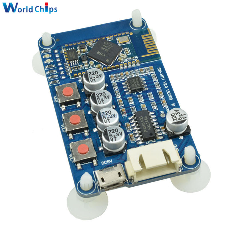 USB Bluetooth 4.0 CSR8635 PAM8403 Stereo Amplifier Module Audio Receiver Board