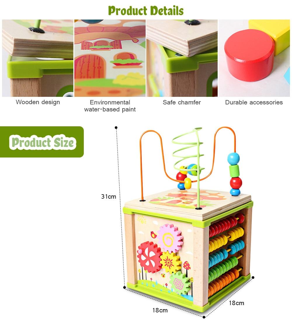 Laberinto de cuentas de madera para niños de juguete educativo para bebés (4)