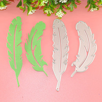 2psc Feather Metal Dies Cutting For Scrapbooking DIY Stencils For Card Crafts DIY Embossing Folder Photo Album Decor