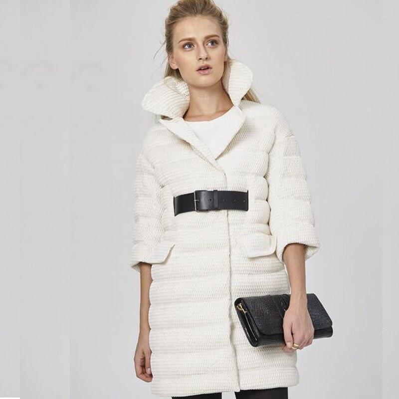Haute qualité vers le bas Parka 2018 nouvelle mode Design créatif modélisation blanc canard vers le bas veste d'hiver femmes femme veste