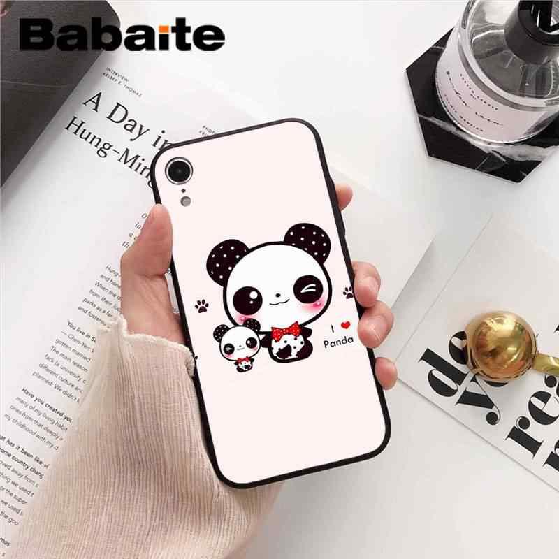 Babaite Nette chinesische panda Coque Shell Telefon Fall für iPhone 8 7 6 6S Plus 5 5S SE XR X XS MAX 11 11pro 11promax Coque Shell