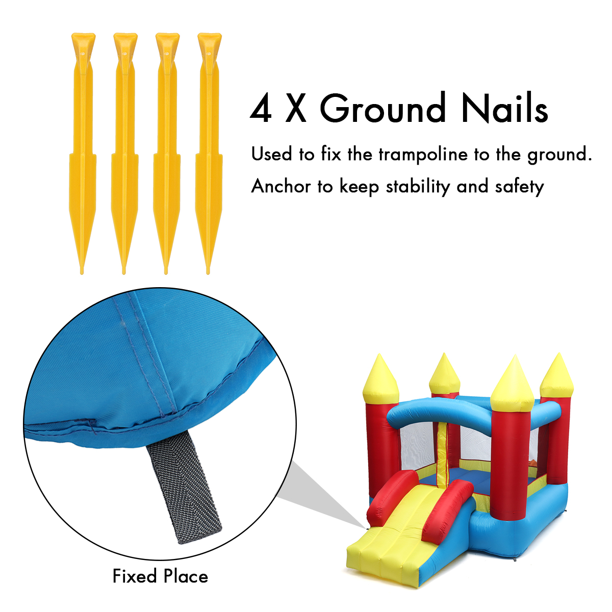US $246 31 |1Set Bouncy Castle Outdoor Indoor Universal Trampoline  Inflatable Castle Playing Games for Kids Gift-in Inflatable Bouncers from  Toys &
