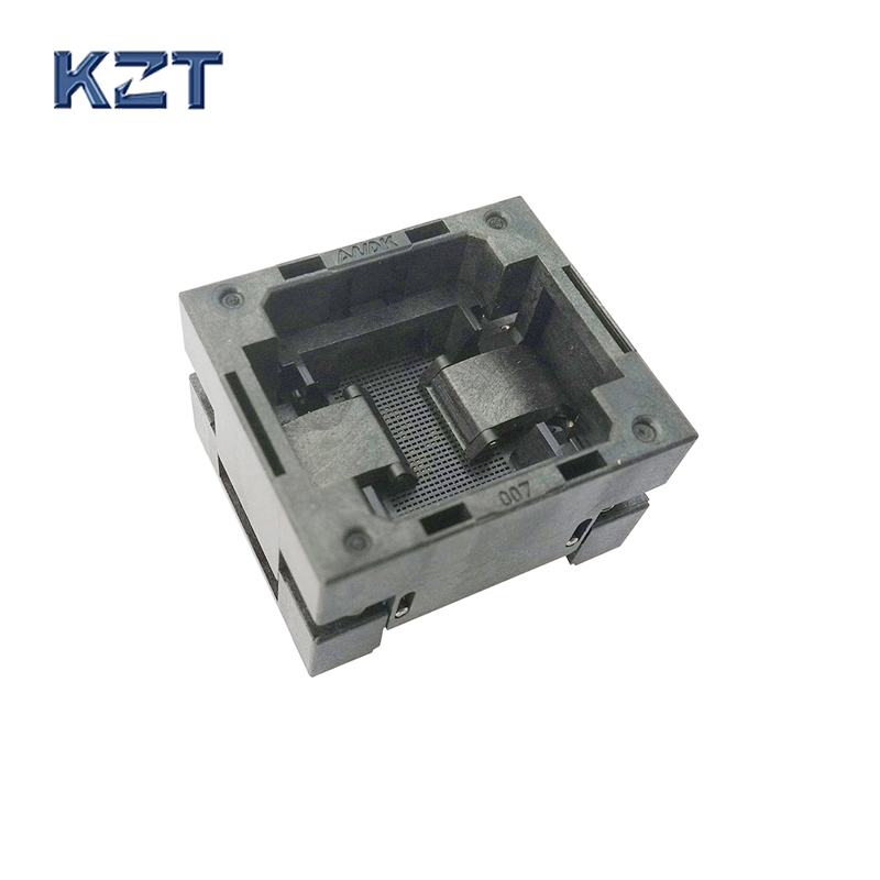 BGA168 OPEN TOP burn in socket pitch 0.65mm IC size 10*10mm BGA168(10*10)-0.65-TP01NT BGA168 VFBGA168 burn in programmer socket bga80 open top burn in socket pitch 0 8mm ic size 7 9mm bga80 7 9 0 8 tp01nt bga80 vfbga80 burn in programmer socket