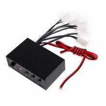 Светодио дный 6 способов светодиодный стробоскоп вспышка лампа аварийный мигающий контроллер коробка DC 12 В в автомобиль