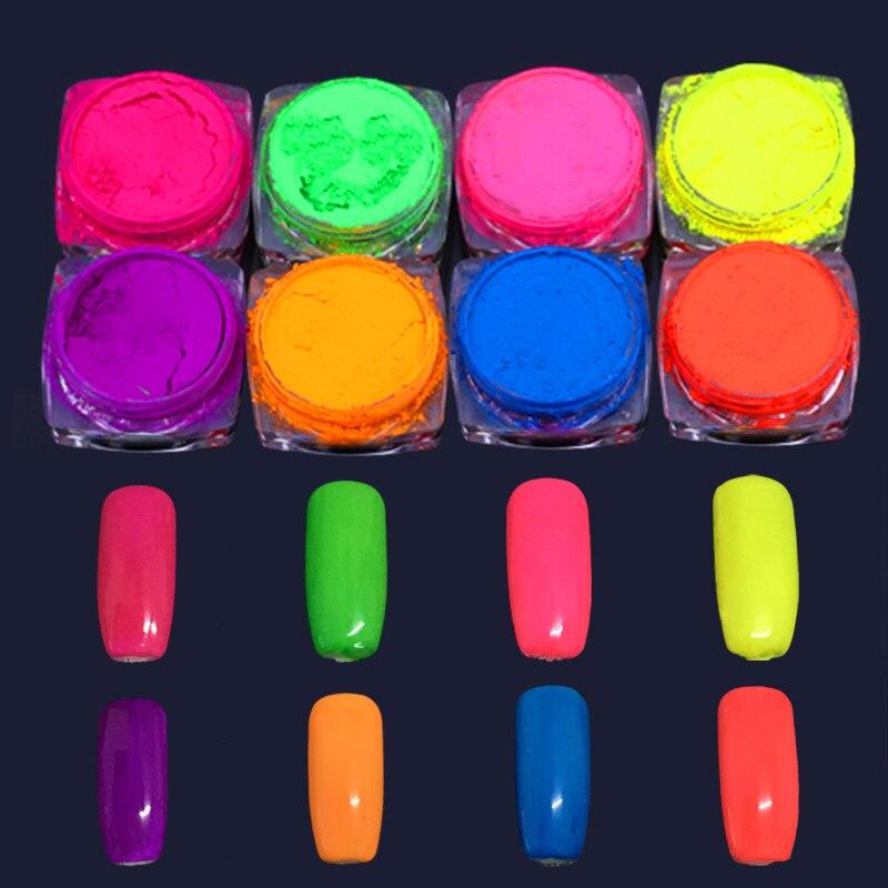 Freundlich 8 Gläser/set Neon Pigment Einhorn Nagel Staub Ombre Neon Pigmente Gradienten Nail Art Glitter Neon Pulver Gradienten Pigmente Ziemlich Schnelle WäRmeableitung Nagelglitzer Schönheit & Gesundheit