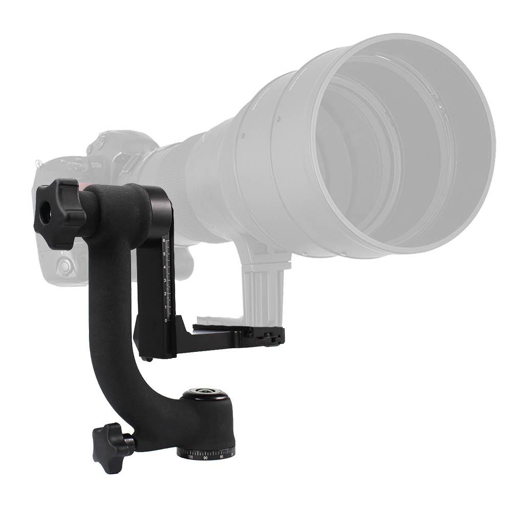 Kolivar Professional Heavy Duty Metal Gimbal Tripod Head For Camera Telephoto Lens Arca Swiss Type Standard