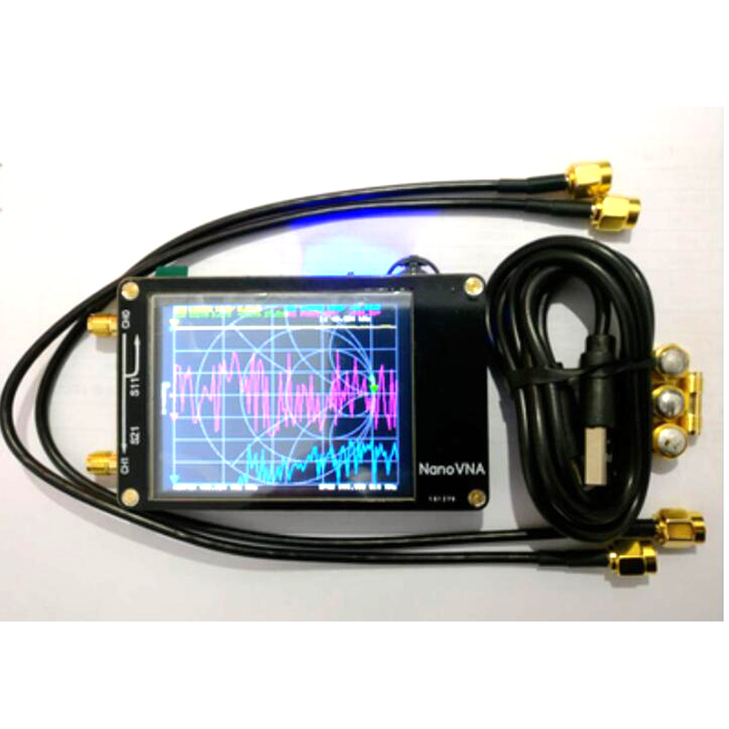 Livraison gratuite NanoVNA VNA 2.8 pouces LCD HF VHF UHF UV vecteur analyseur de réseau 50KHz ~ 900MHz analyseur d'antenne batterie intégrée