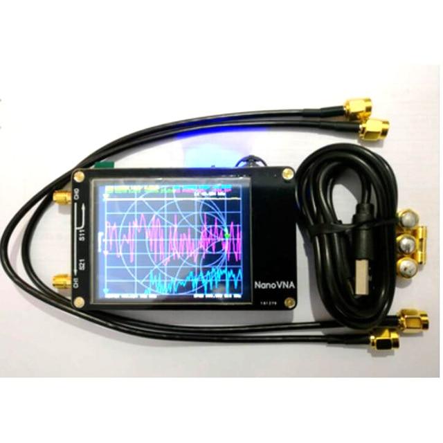 Livraison gratuite NanoVNA VNA 2.8 pouces LCD HF VHF UHF UV vecteur analyseur de réseau 50KHz ~ 900MHz analyseur dantenne batterie intégrée