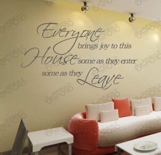 enter leave house removable vinyl wall stickers art words lettering