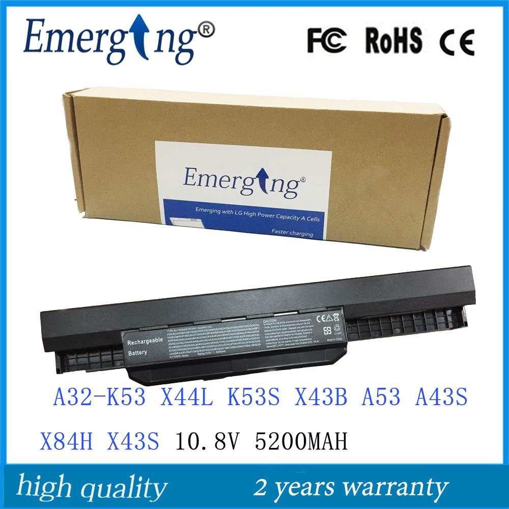10.8v 5200mah  New  Japanese Cell Laptop Battery For ASUS A32-K53 K43 K43E K43J K43S K43SV K53 K53E K53F K53J K53S K53SV A43 A53