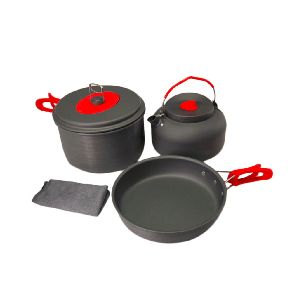 ALOCS Non-Stick Aluminum Camping Cookware Ultralight Outdoor Cooking Picnic Set Camp Pot Pan Kettle Dishcloth For 2-3 People виниловая пластинка grateful dead the grateful dead 50th anniversary
