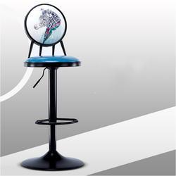 Европейский Стиль Iron барный стул поднял поворачивается ретро печать высокого стула со спинкой многоцелевой PU место регистрации стул