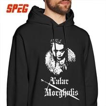 Man Casual Hoodies Valar Morghulis Arya Stark Game Of Thrones 100% Cotton Sweatshirt Black Hooded Tops цена и фото