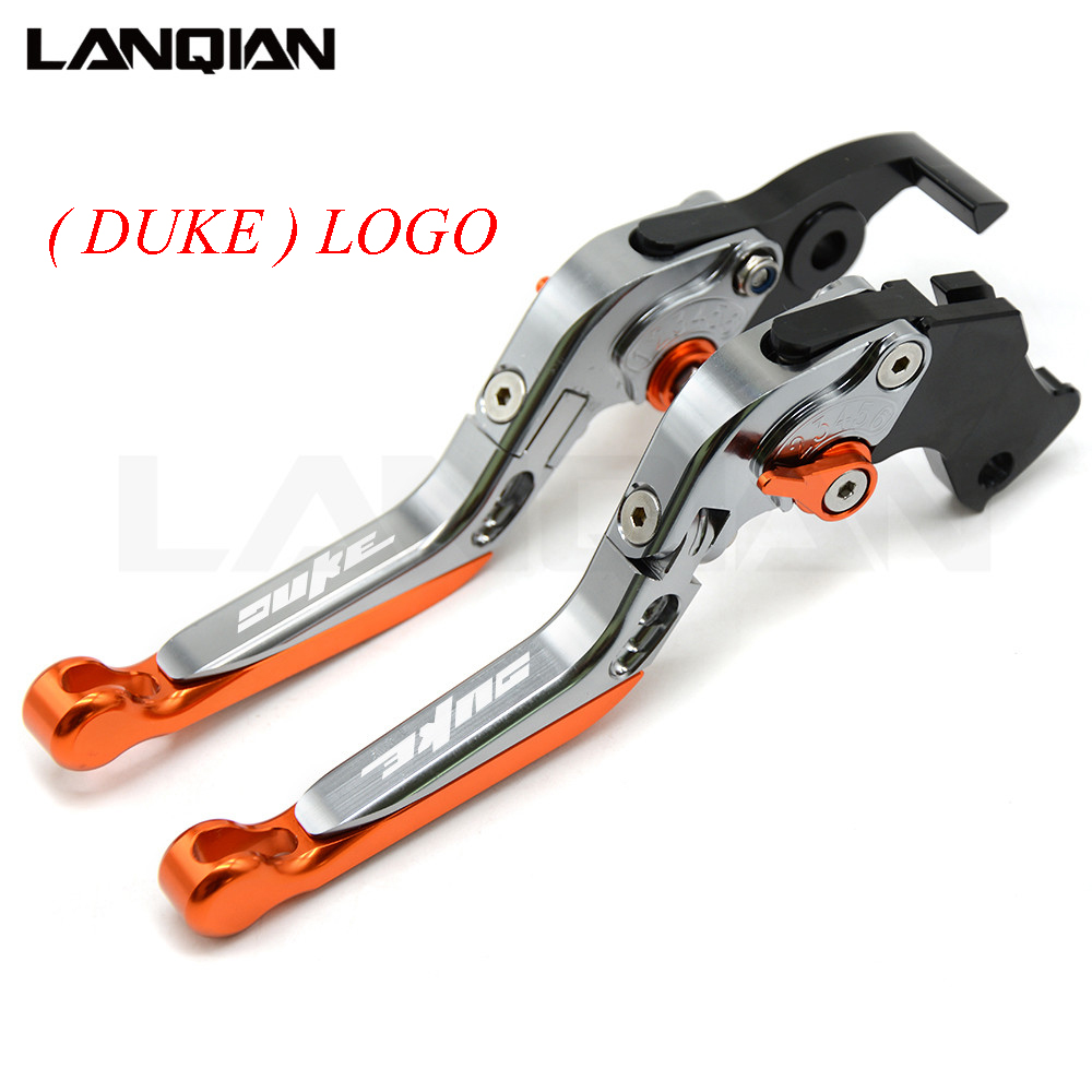 For KTM Duke/RC 390 200 125 CNC Motorcycle Accessories Brakes Clutch Levers Adjustable Folding Extendable Lever 2013-2017 for ktm rc390 rc200 rc125 125 duke high quality motorcycle cnc foldable extending brake clutch levers folding extendable lever