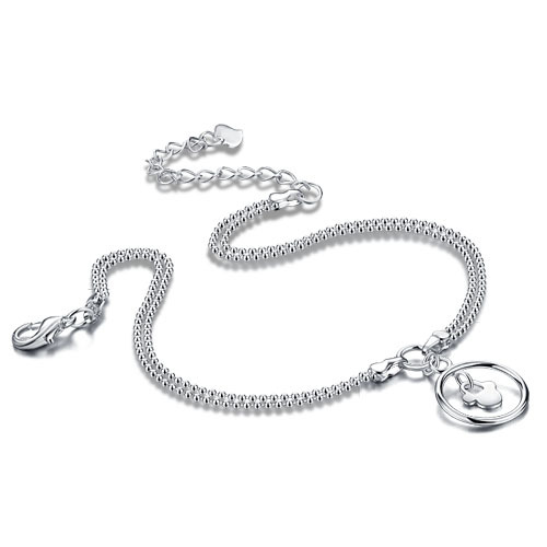 New arrival women 925 pure silver anklet Popular jewelry Contracted fashion High quality 925Sterling silver