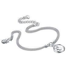 Женщины 925 чистого серебро ножной браслет ; ювелирные изделия ; контракт ; 925 чистое серебро