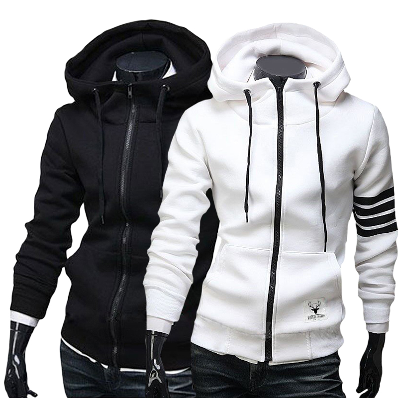 Men's Hoodies Sweatshirt Casual Male Hooded Jacket Long Sleeve ...