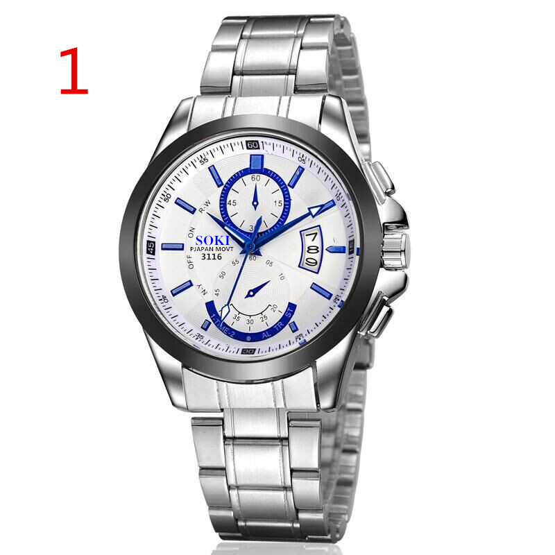 Steel band mens watch non - mechanical trend casual waterproof stylish male 2019 new atmosphere quartz watch.92Steel band mens watch non - mechanical trend casual waterproof stylish male 2019 new atmosphere quartz watch.92