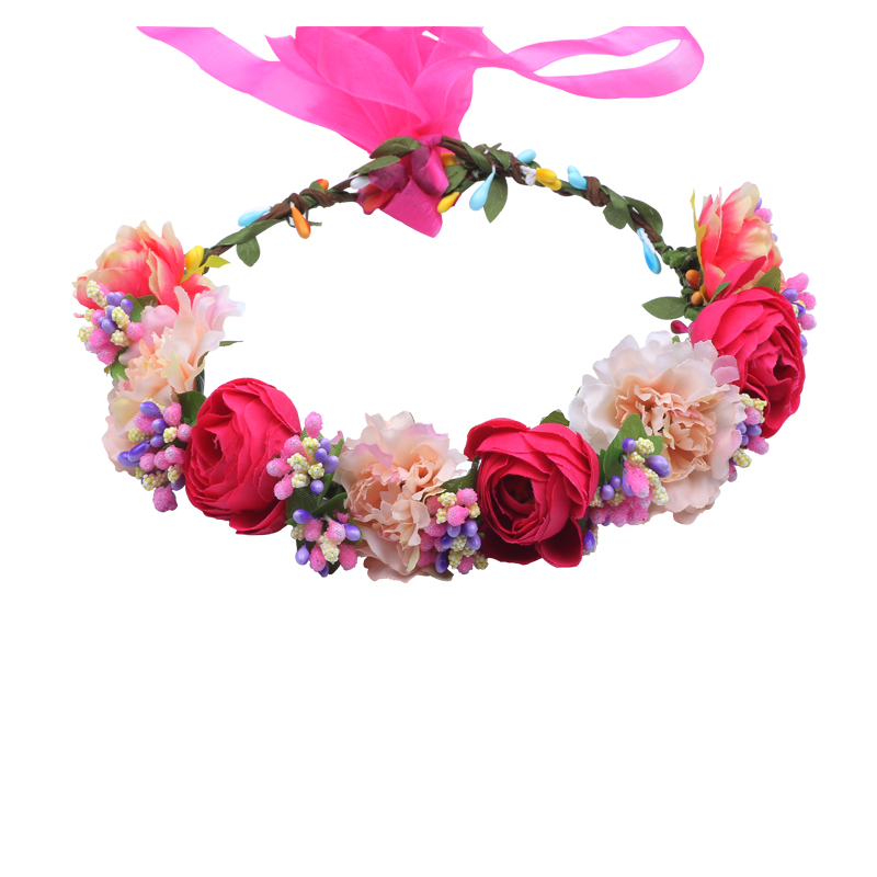 11 Colors Handmade Fabric Camellia Flower Crown Bridal Hair Accessories Prom Flower Garland For Kids  Health Flower Wreath