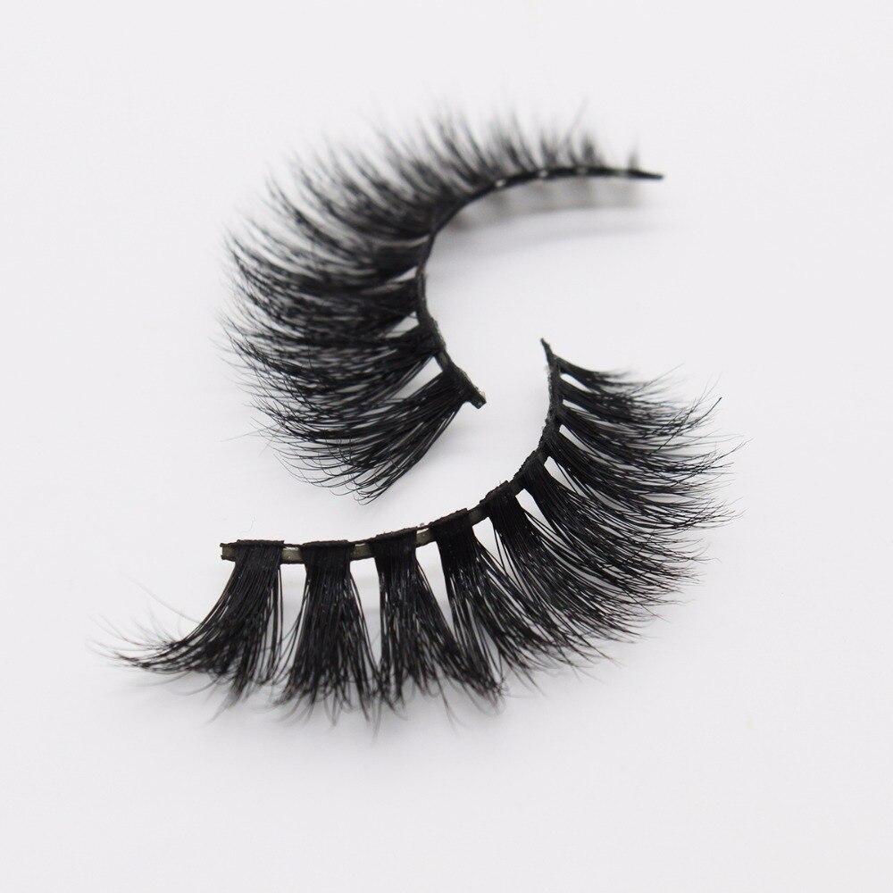 2343ad3e3fe Ptcharming Handmade 100% Real Siberian Mink False Eyelash Individual  Eyelashes Extension 3D Faux Lashes PTAME D106-in False Eyelashes from  Beauty & Health ...