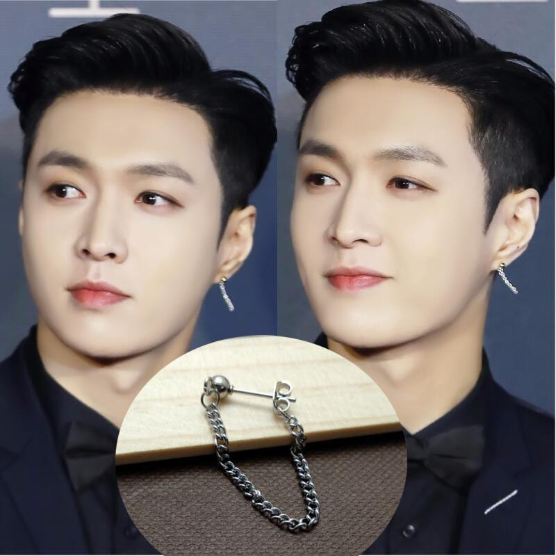 [MYKPOP]EXO LAY MAHB Earring Earbud KPOP Fashion Accessories for Boy and Girl Fans Collection SA18051512