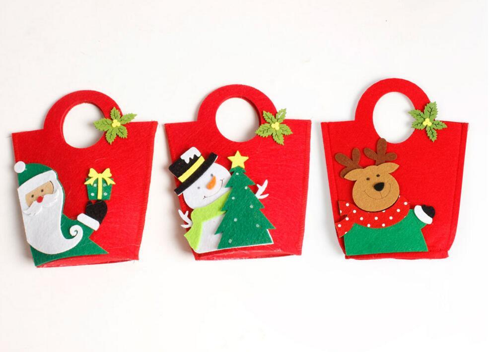 Joyeux Noel Apple.3 Pcs Ensemble Mignon Joyeux Noel Enfants Apple Bonbons Pere