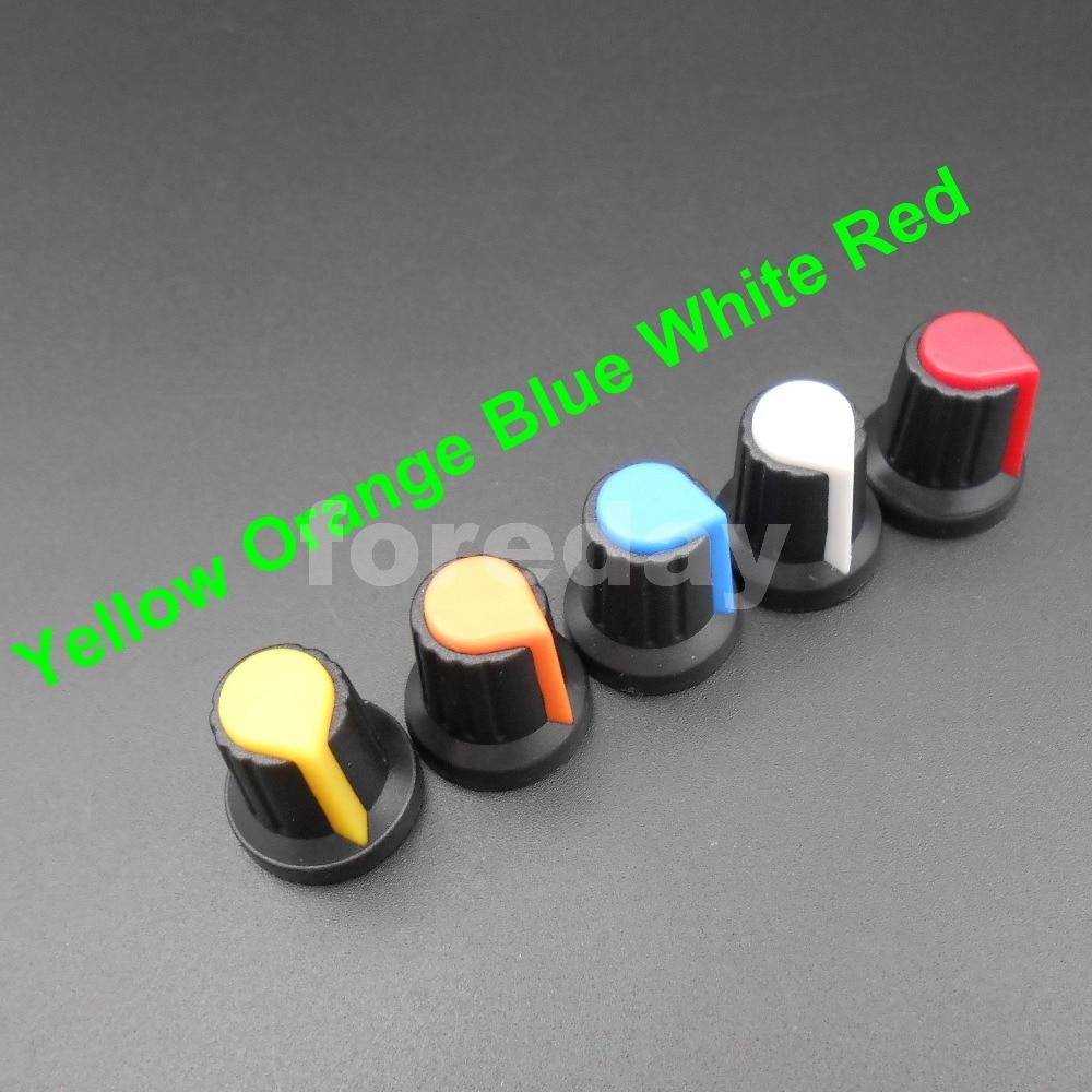Integrated Circuits 20pcs Wh148 Knob Cap Ag2 15*17mm Hole 6mm Potentiometer Power Amplifier Knob plum Flower Pattern