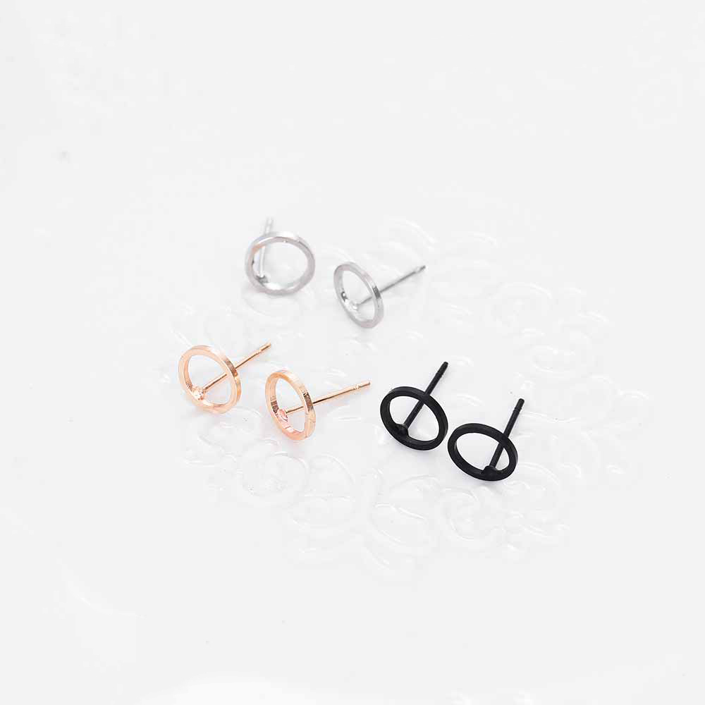 Fashion Minimalist Jewelry Gold Sliver Punk Geometric Round Circle Stud Earrings for Women Small Earrings Brincos Ear Jewelry 6