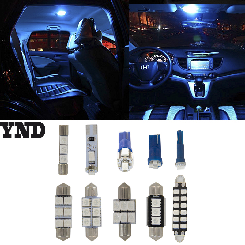 7x Interior Lights Led Package Dealgift Tool For 2003 2007 Infiniti G35 Coupe Blue