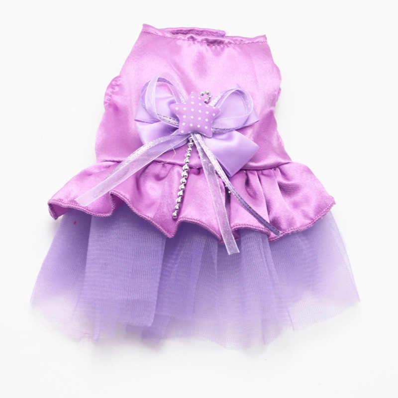 חיות מחמד כלב חתול שמלות קשת חצאית טול טוטו שמלת גור חתול נסיכת שמלת קיץ בגדים