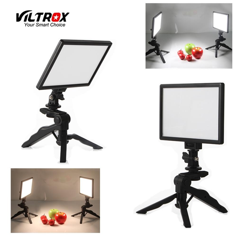 2x Viltrox L116T Video Studio LED Camera Light LCD Bi-Color Dimmable + 2x Folding Handheld Tripod Stand + 2x AC Power Adapter