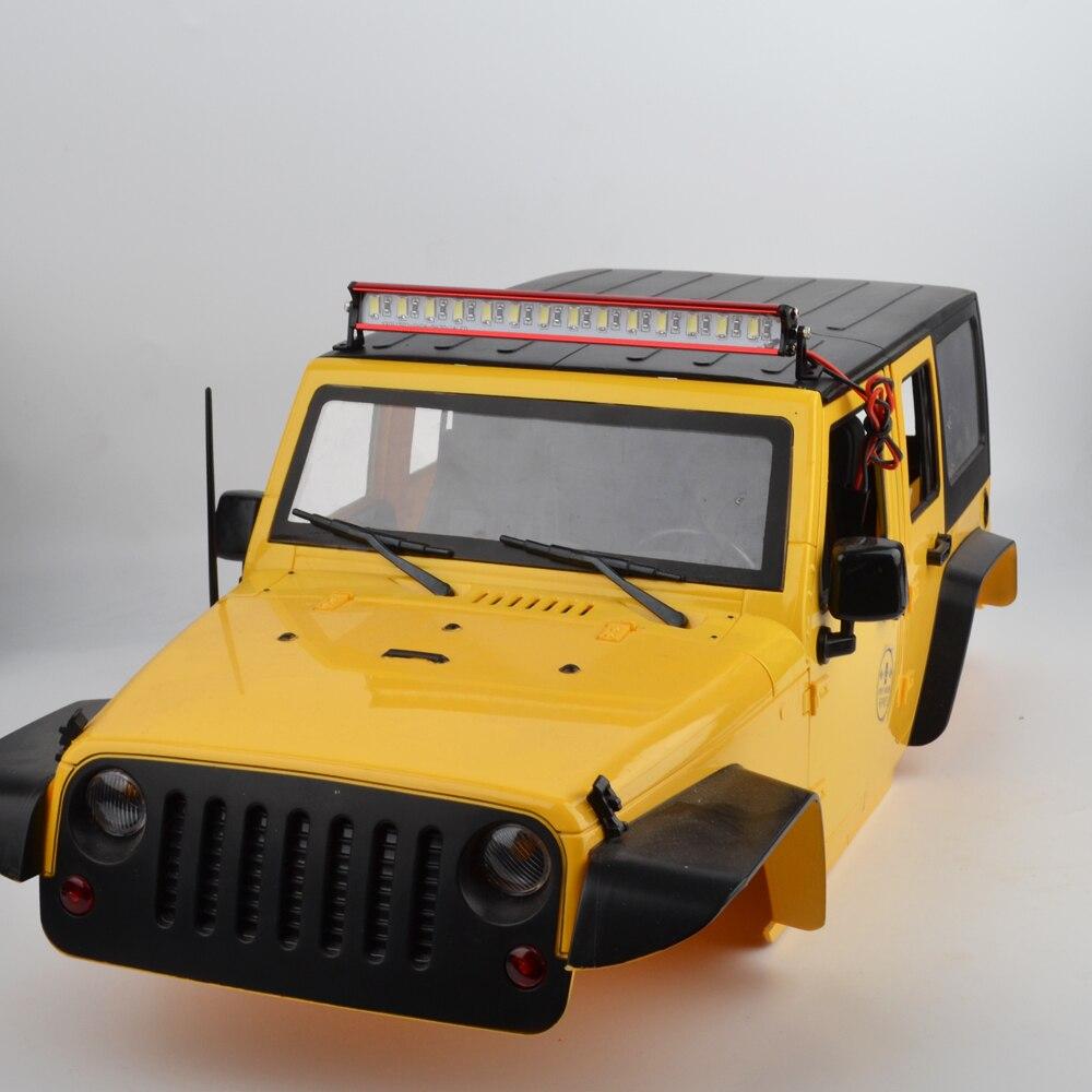 1/10 RC Crawler Metal 14 LED Light Bar Kit de Control remoto 1/10 escala modelos TAMIYA CC01 Axial SCX10 RC4WD d90 D110 90046