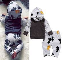 Cute Toddler Kids Winter Clothes Baby Boys Hoodie Tops +Pants Leggings 2Pcs Outfits Set