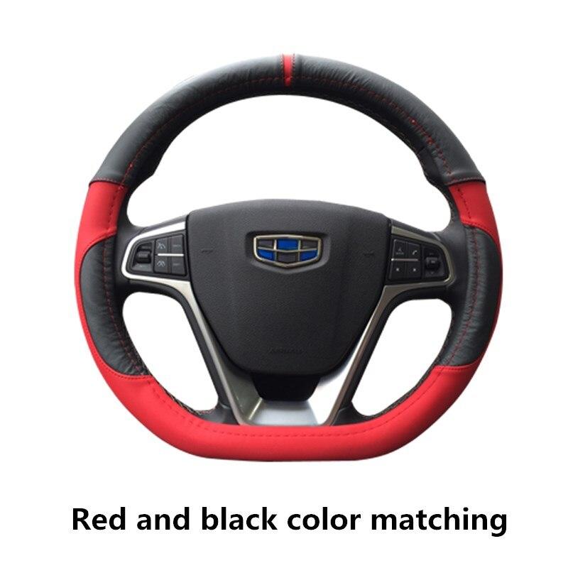 D Shape Car Steering Wheel Covers Microfiber Leather Steering-Wheel Cover for D Ring Sport Auto Interior Steering Accessories