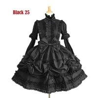 Gótico de halloween del victorian lolita dress cosplay larga con gradas acodado falda de las mujeres cualquier tamaño