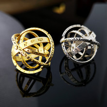 2019 Hot Sale Astronomical Sphere Ball Ring Cosmic Finger Silver Gold Rings For Women Men Couple Lover Wedding Statement Jewelry high quality astronomical ball cosmic rings gold silver universe constellation finger ring couple lovers creative jewelry gifts
