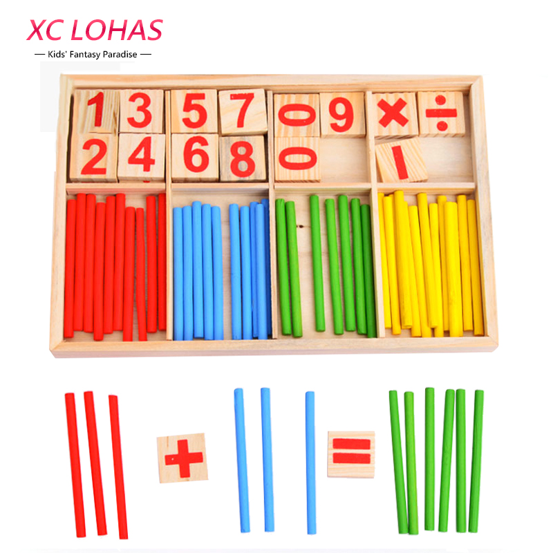 Children Montessori Number Math Toys Baby Wooden Intelligent Stick Arithmetic Games Educational Toys for Kids Birthday Gifts