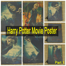 Harry Potter magic world poster series Vintage Retro Matte Kraft Paper Antique Poster Wall Sticker Home Decora Part 1(China (Mainland))