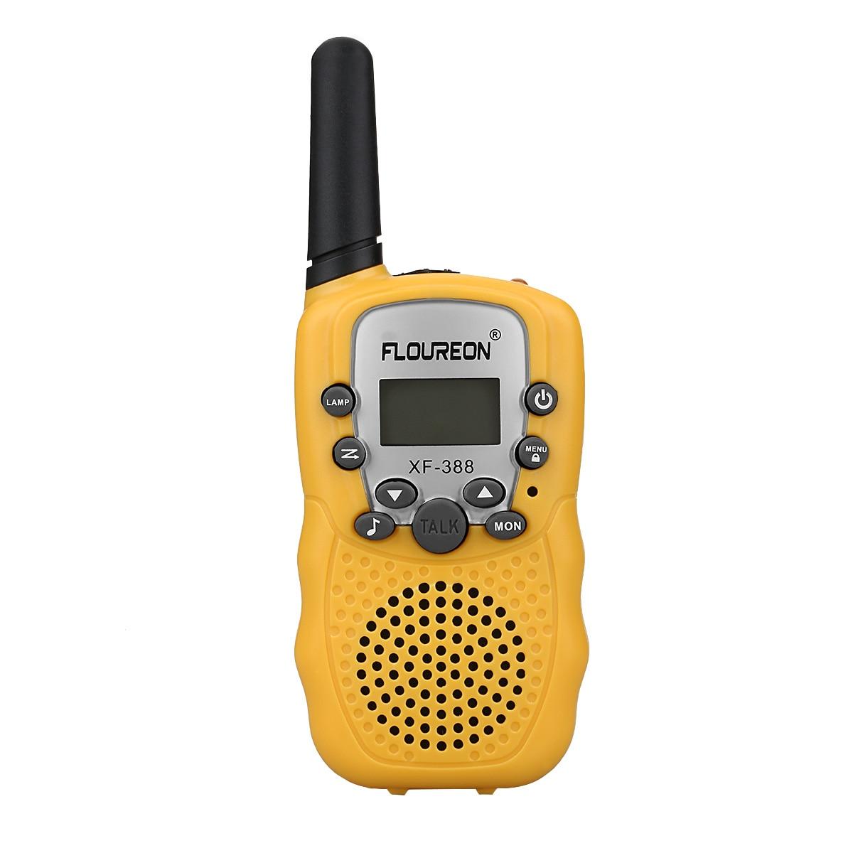 Türsprechstelle Floureon 1 Para 8 Kanal Walkie Talkies Uhf400-470mhz Lcd Display Amateur Zwei-weg Radio Schwarz Mini Kinder Radio Retevis