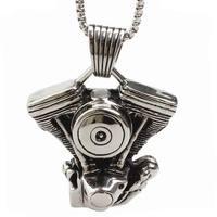 Motor anhänger titanium halskette für männer edelstahl schmuck punk persönlichkeit mode männlichen schmuck