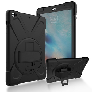 Image 1 - For iPad Air 1 Case Heavy Duty Shockproof Hand Strap Cover For ipad 5 A1474 A1475 Kickstand Hybrid Kids Safe Armor Tablet Cases