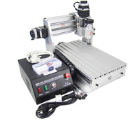 Hot Sale Mini CNC Router 3020T DJ CNC Engraving Machine With Black Control Box For Wood