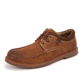 Fmzxg NYY 101-116 Мужские кожаные туфли Мода Для мужчин повседневная обувь мокасины в стиле ретро Стиль Лоферы для женщин Sapatos Hombre