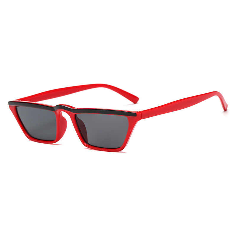 77c43cfc5f5 ... MOLNIYA Square Small Sunglasses Women Flat Top 2018 Cute Retro Leopard Black  Red Cat Eye Sun ...