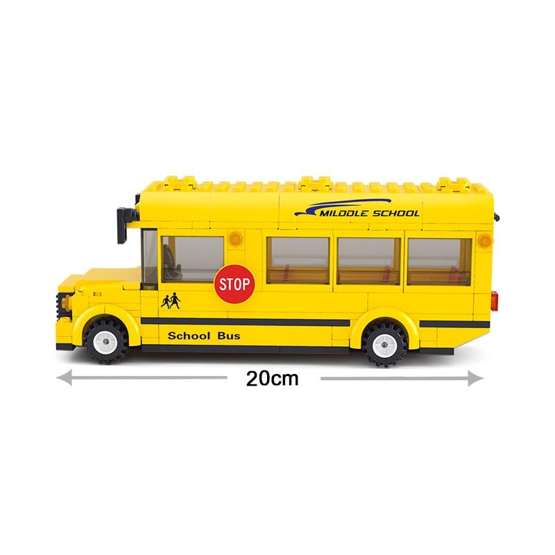 Sluban Model Building Compatible lego Lego B0507 219pcs Model Building Kits Classic Toys Hobbies School Bus Educational