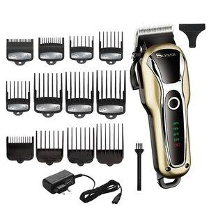 Image 1 - ספרות עוצמה גוזז שיער מקצועי חותך שיער חשמלי גוזם שיער מכונת חיתוך שיער לחתוך מתכוונן גברים כלי