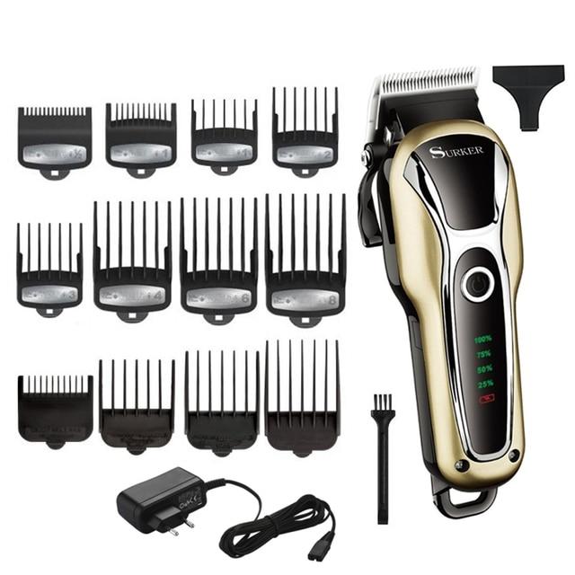 ספרות עוצמה גוזז שיער מקצועי חותך שיער חשמלי גוזם שיער מכונת חיתוך שיער לחתוך מתכוונן גברים כלי
