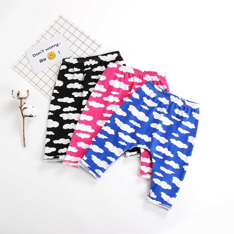 Toddler Baby Boy Girl Clothes Clound Printed Harem Pants Trousers Bottom Leggings PP Leggings Sweatpants Cotton Trousers