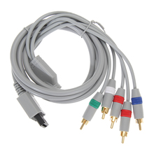 1.8m 6FT 1080P Component Cable HDTV Audio Video AV 5RCA Cable For Nintendo Wii Natural and VIVID Support 1080i/720P Game Cable