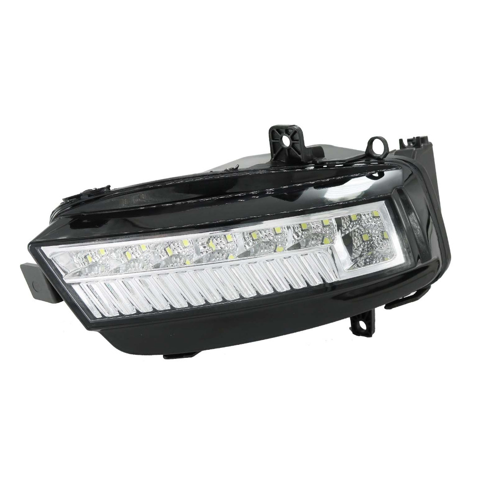 For VW Golf 7 Golf MK7 2013 2014 2015 2016 2017 Car-styling Right Side LED Front DRL Daytime Running Light Fog Light Fog Lamp right side for vw polo vento derby 2014 2015 2016 2017 front halogen fog light fog lamp assembly two holes